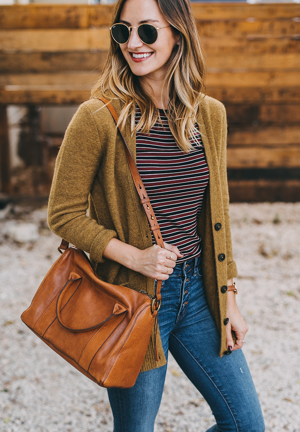 livvyland-blog-olivia-watson-austin-texas-fashion-lifestyle-blogger-madewell-grandpa-cardigan-button-up-high-rise-skinny-jeans-tan-leather-slides-fall-outfit-style-idea-6