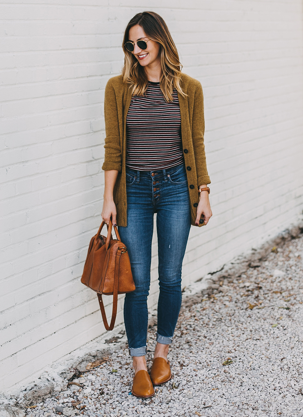 livvyland-blog-olivia-watson-austin-texas-fashion-lifestyle-blogger-madewell-grandpa-cardigan-button-up-high-rise-skinny-jeans-tan-leather-slides-fall-outfit-style-idea-8