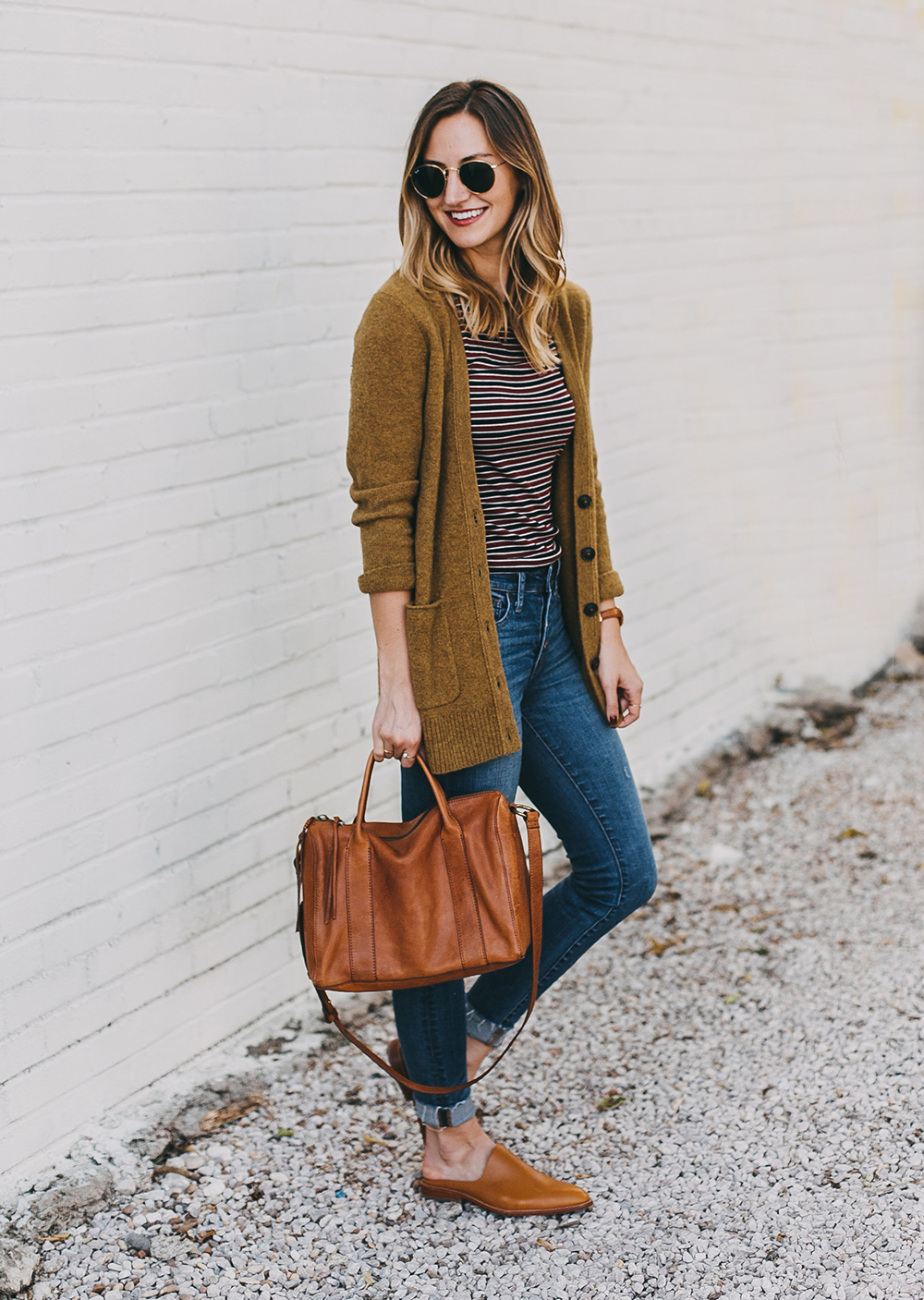 livvyland-blog-olivia-watson-austin-texas-fashion-lifestyle-blogger-madewell-grandpa-cardigan-button-up-high-rise-skinny-jeans-tan-leather-slides-fall-outfit-style-idea-9