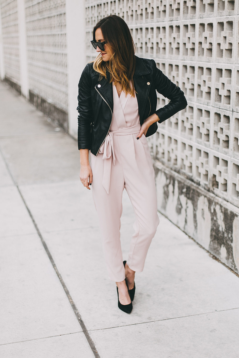livvyland-river-island-blush-pink-jumpsuit-black-leather-jacket-holiday-party-nye-outfit-inspiration-ideas-1