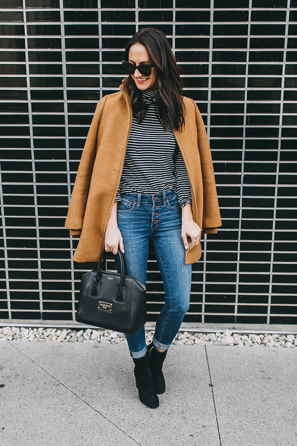 livvyland-blog-olivia-watson-austin-texas-fashion-blogger-j-crew-camel-winter-coat-striped-turtleneck-mid-calf-ankle-booties-1