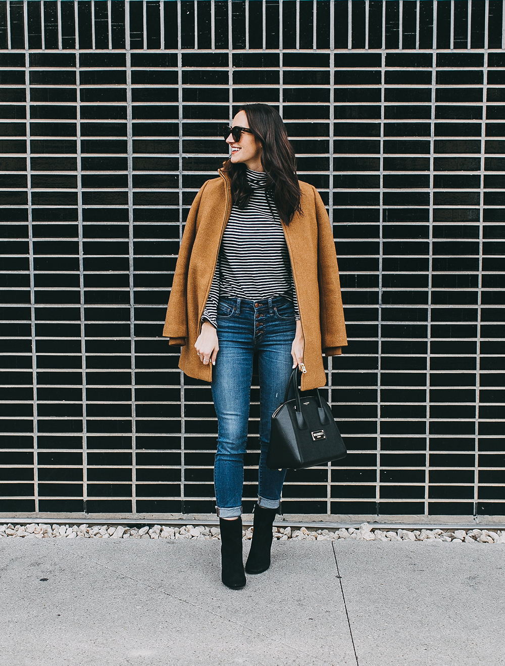 livvyland-blog-olivia-watson-austin-texas-fashion-blogger-j-crew-camel-winter-coat-striped-turtleneck-mid-calf-ankle-booties-2