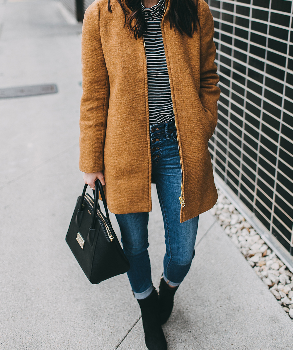 livvyland-blog-olivia-watson-austin-texas-fashion-blogger-j-crew-camel-winter-coat-striped-turtleneck-mid-calf-ankle-booties-8