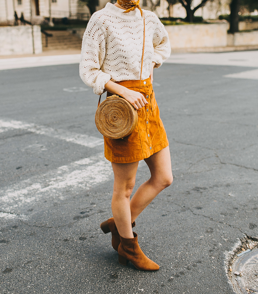 livvyland-blog-olivia-watson-austin-texas-fashion-style-blogger-burnt-orange-corduroy-skirt-bdg-a-line-outfit-1