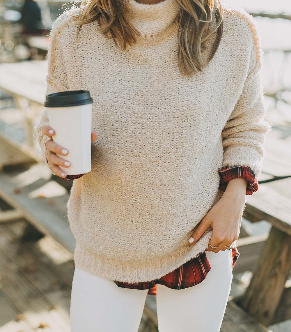 livvyland-blog-olivia-watson-austin-texas-fashion-style-blogger-knit-sweater-plaid-button-down-layer-white-jeans-mozarts-coffeehouse-4