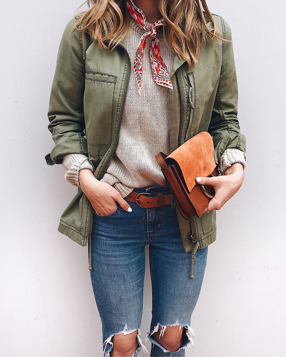 livvyland-blog-olivia-watson-utility-jacket-army-surplus-oatmeal-sweater-levis-721-madewell-outfit