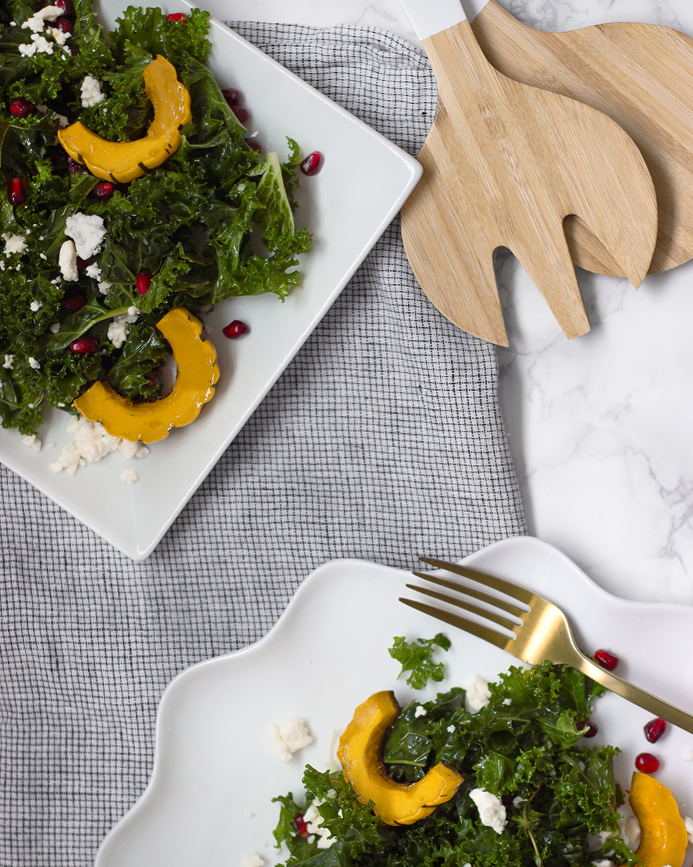 livvyland-healthy-clean-eating-vegetarian-recipe-Kale-Salad-Delicata-Squash-jessica-lee-3