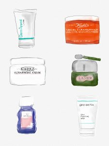 livvyland-blog-olivia-watson-favorite-face-skincare-products-illustration-kimberlee-artworks