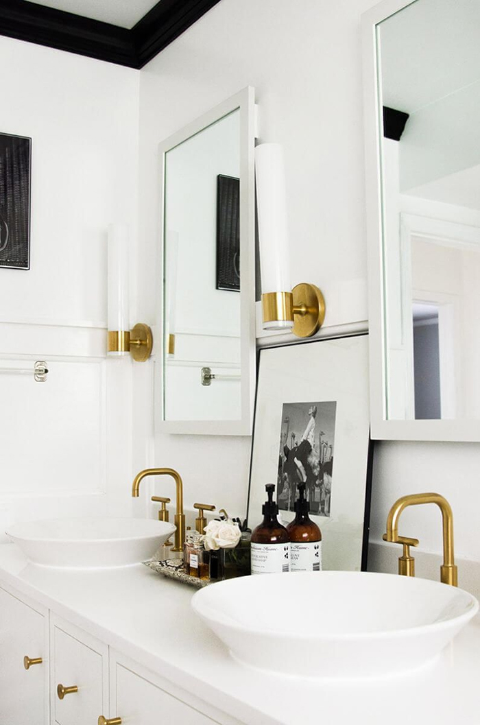 Design Crush Brushed Gold Bathroom Fixtures Livvyland Austin Fashion And Style Blogger