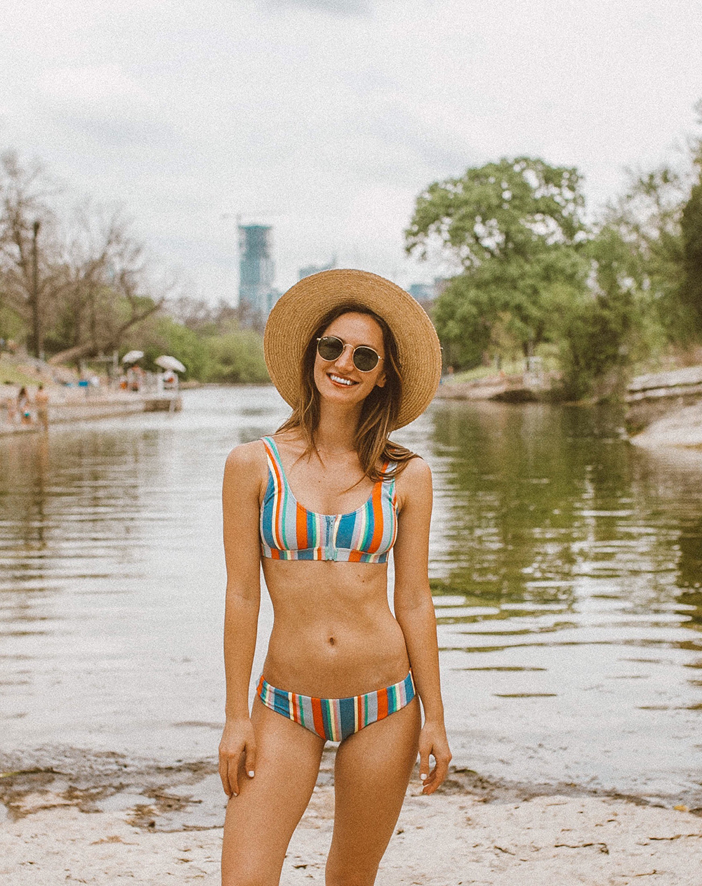 livvyland-blog-olivia-watson-austin-texas-barton-springs-pool-fashion-blogger-billabong-rainbow-swimsuit-1