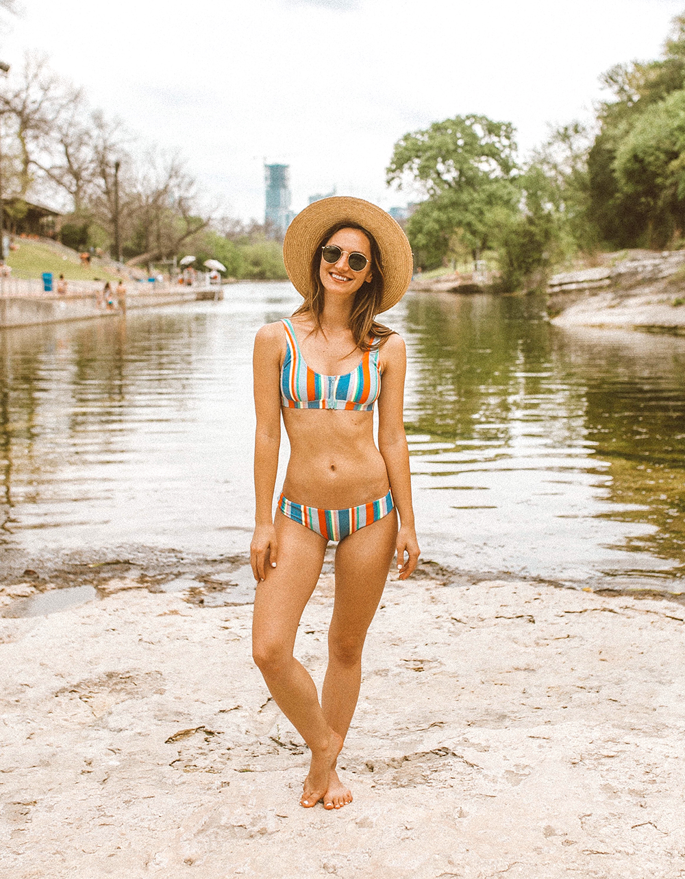 livvyland-blog-olivia-watson-austin-texas-barton-springs-pool-fashion-blogger-billabong-rainbow-swimsuit-13
