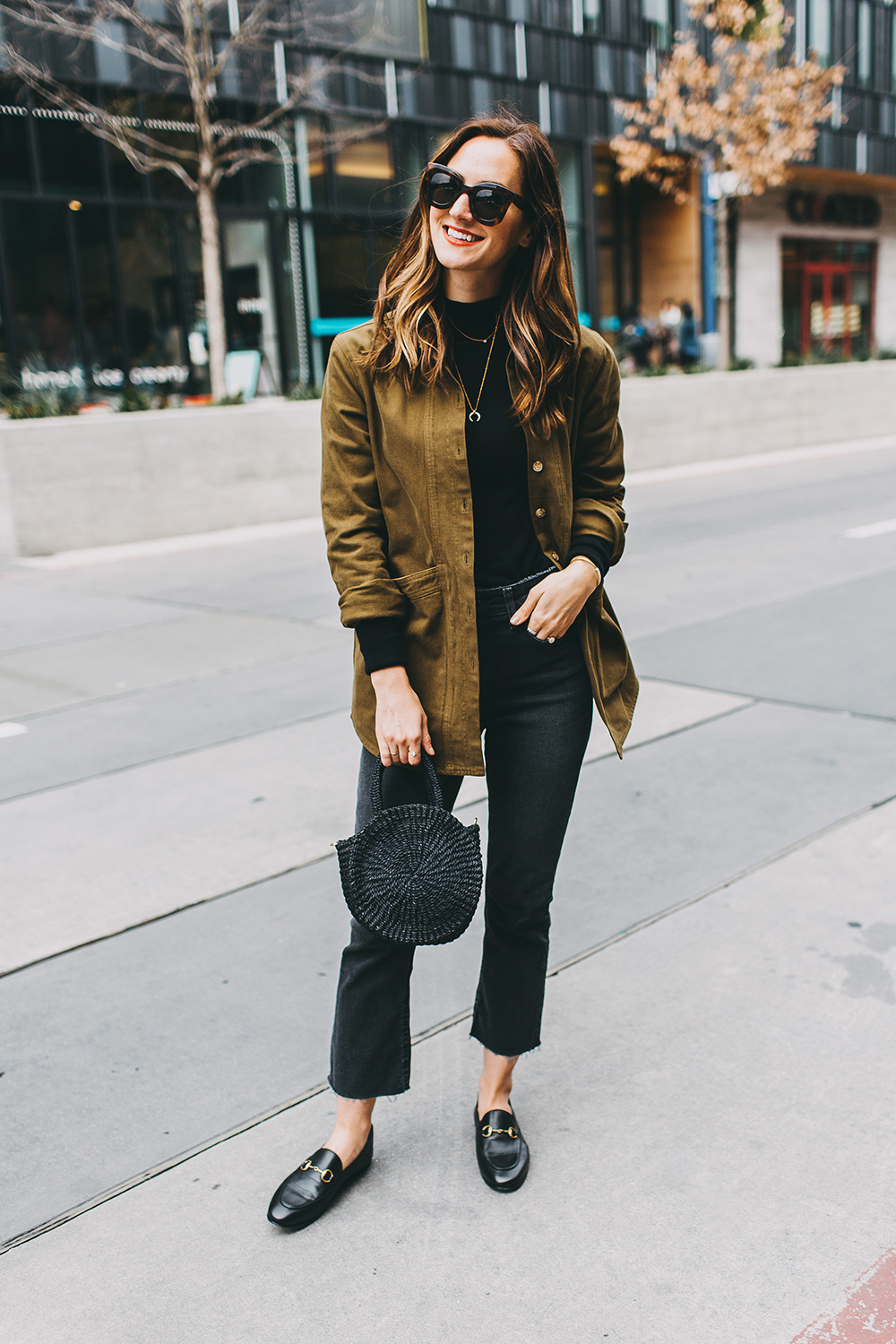 livvyland-blog-olivia-watson-austin-texas-fashion-blogger-fall-winter-all-black-sezane-will-khaki-jacket-outfit-missoma-horn-crescent-necklace-13