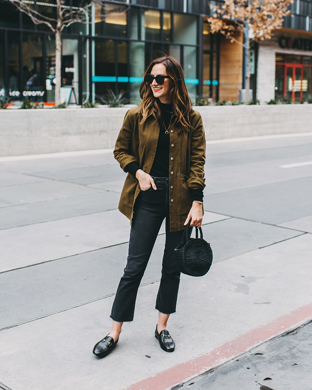 livvyland-blog-olivia-watson-austin-texas-fashion-blogger-fall-winter-all-black-sezane-will-khaki-jacket-outfit-missoma-horn-crescent-necklace-8