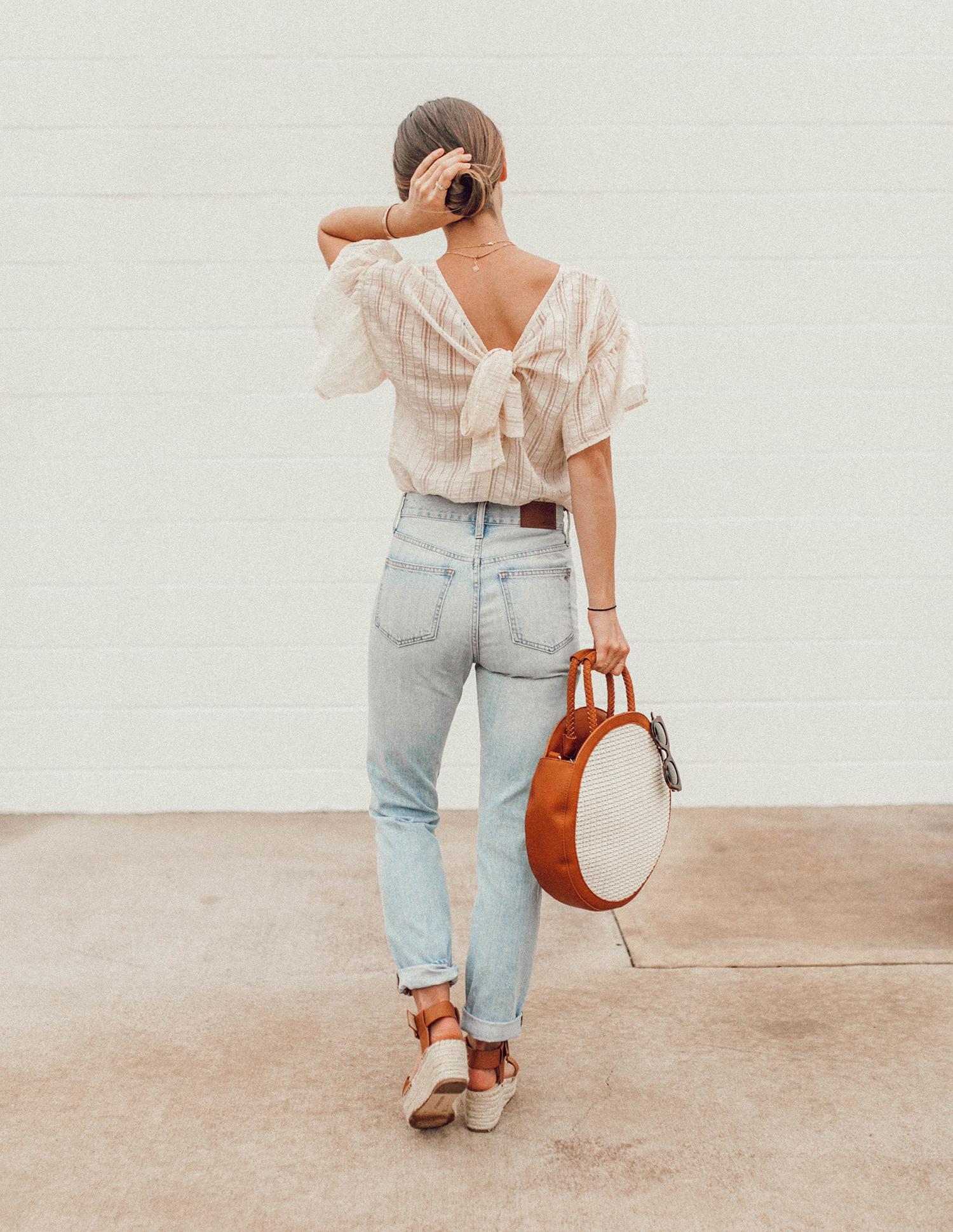 livvyland-blog-olivia-watson-sole-society-espadrille-wedges-round-straw-handbag-2