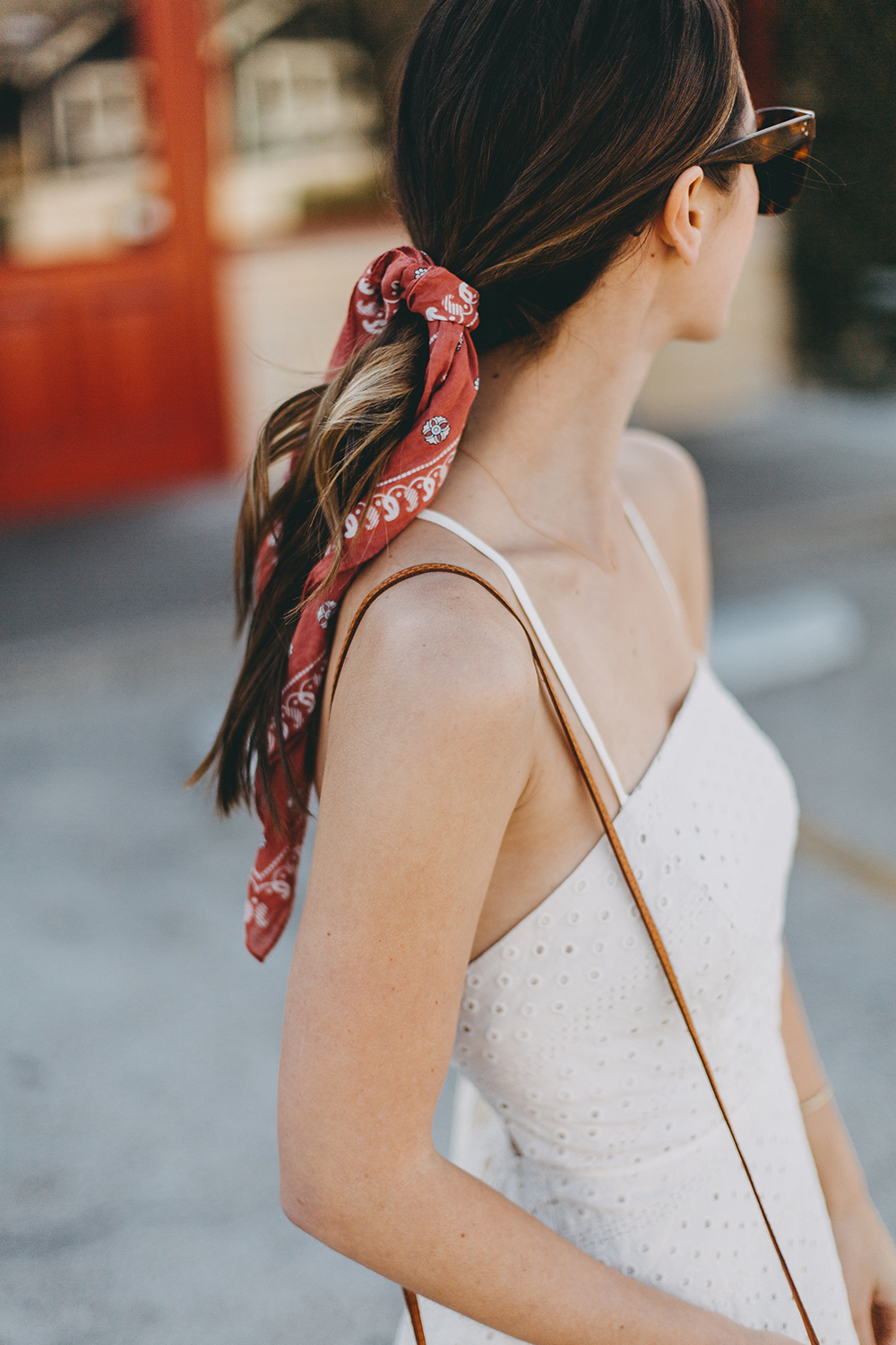 livvyland-blog-olivia-watson-urban-outfitters-eyelet-open-back-dress-madewell-hair-bandana-scarf-spring-date-outfit-1