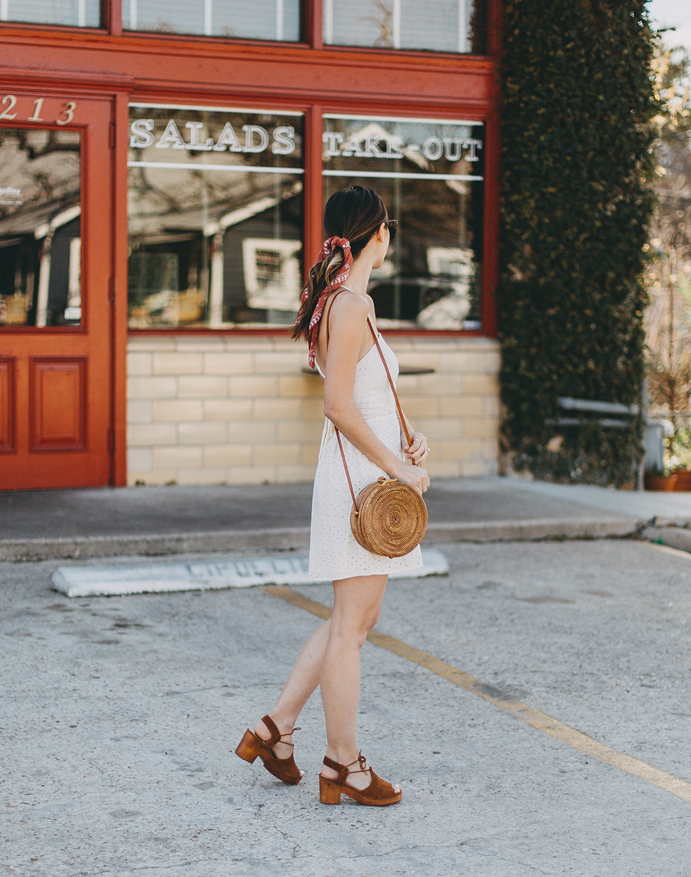 livvyland-blog-olivia-watson-urban-outfitters-eyelet-open-back-dress-madewell-hair-bandana-scarf-spring-date-outfit-3