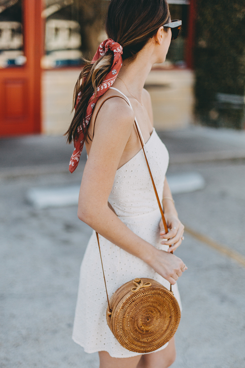 livvyland-blog-olivia-watson-urban-outfitters-eyelet-open-back-dress-madewell-hair-bandana-scarf-spring-date-outfit-5