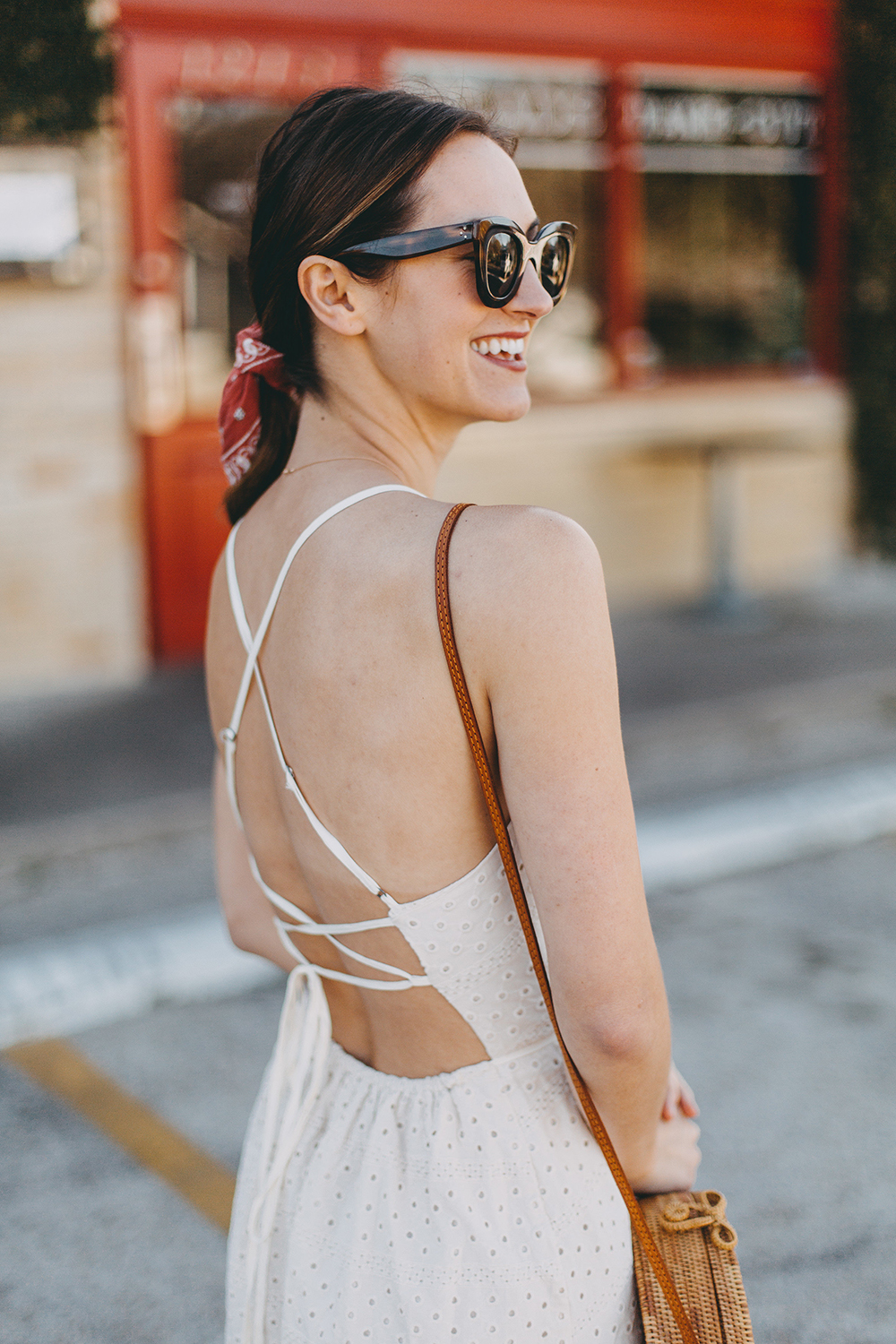 livvyland-blog-olivia-watson-urban-outfitters-eyelet-open-back-dress-madewell-hair-bandana-scarf-spring-date-outfit-7