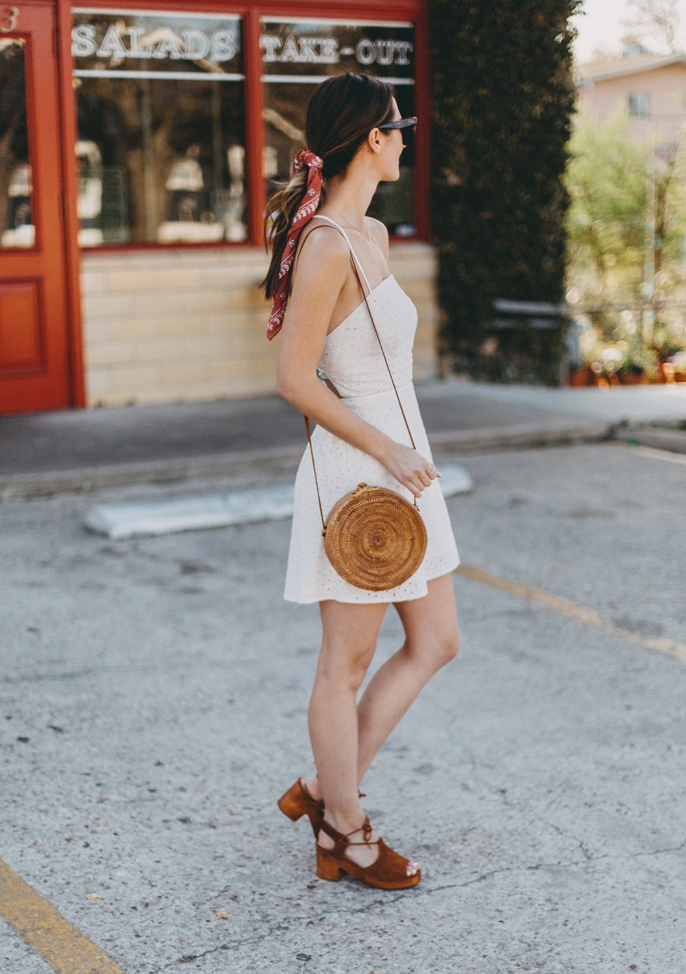livvyland-blog-olivia-watson-urban-outfitters-eyelet-open-back-dress-madewell-hair-bandana-scarf-spring-date-outfit-8