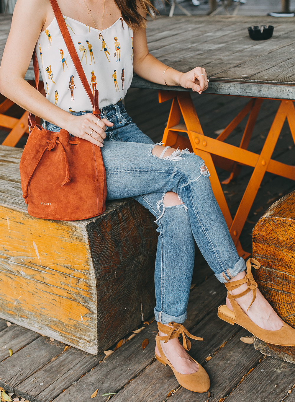 livvyland-blog-olivia-watson-austin-texas-fashion-blogger-sezane-bucket-bag-rust-suede-jos-coffee-silk-satin-tank-top-7
