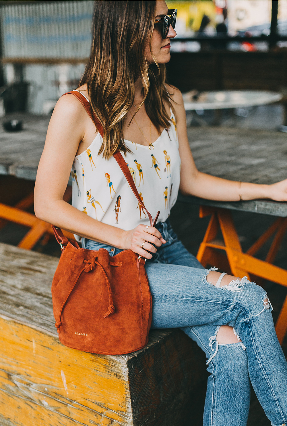 livvyland-blog-olivia-watson-austin-texas-fashion-blogger-sezane-bucket-bag-rust-suede-jos-coffee-silk-satin-tank-top-9