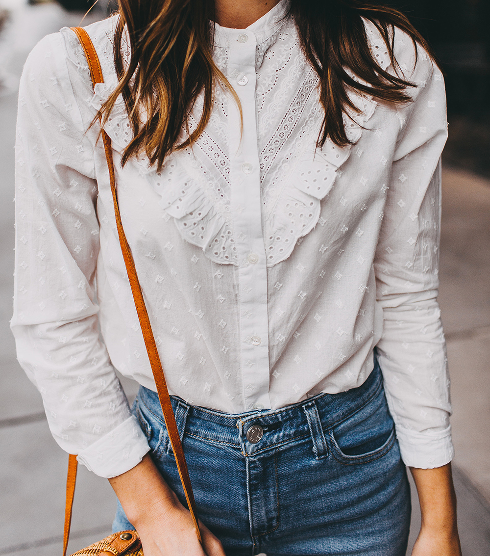 livvyland-blog-olivia-watson-austin-texas-fashion-style-blogger-sezane-white-eyelet-blouse-kick-flare-jeans-simple-spring-outfit-9