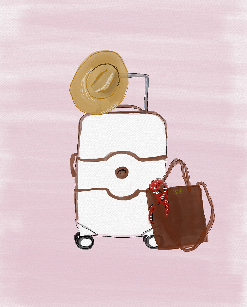 livvyland-blog-olivia-watson-austin-travel-blogger-suitcase-luggage-watercolor-illustration