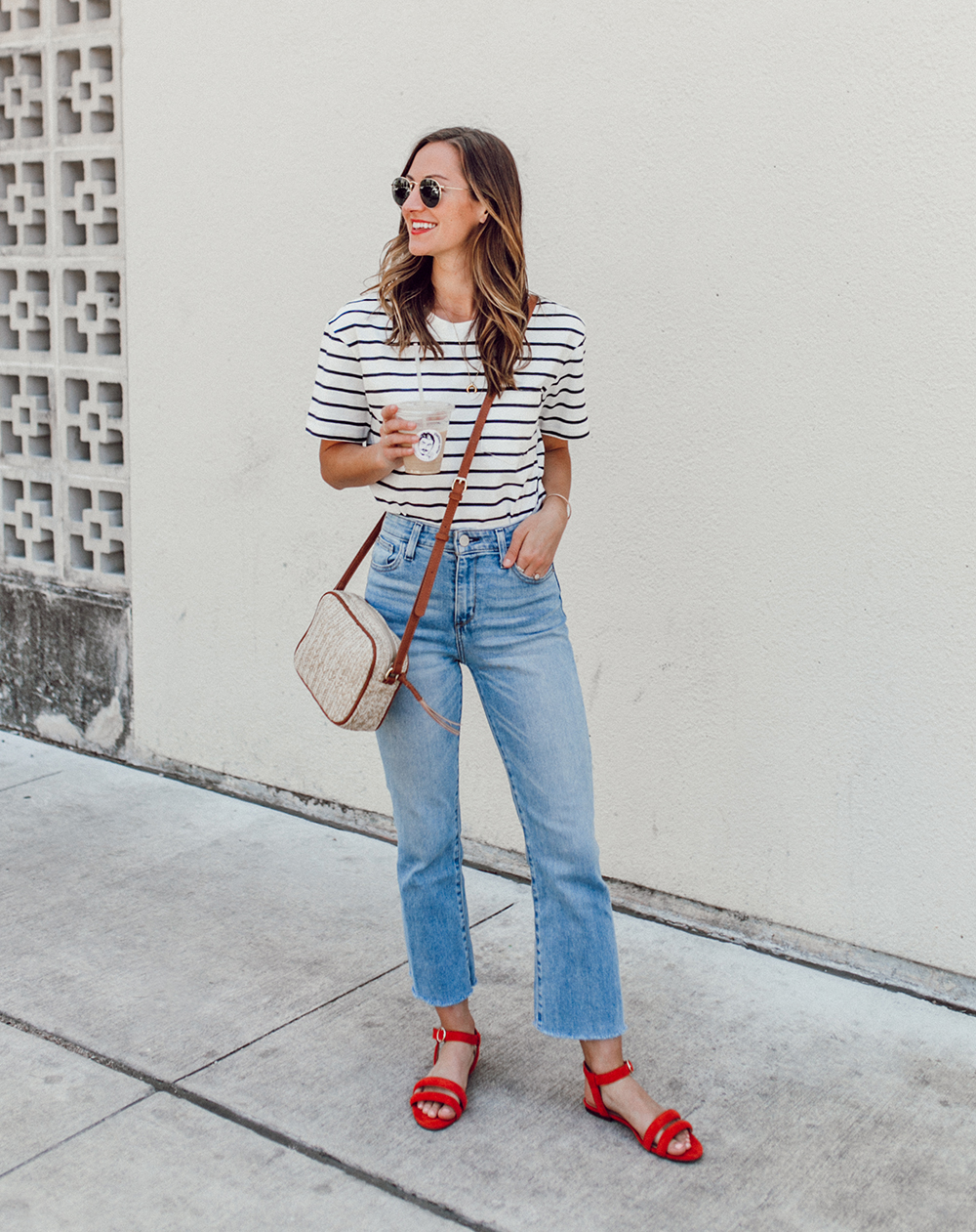 livvyland-blog-olivia-watson-sole-society-red-sandal-flats-spring-summer-outfit-idea-style-austin-texas-fashion-blogger-striped-shirt-6