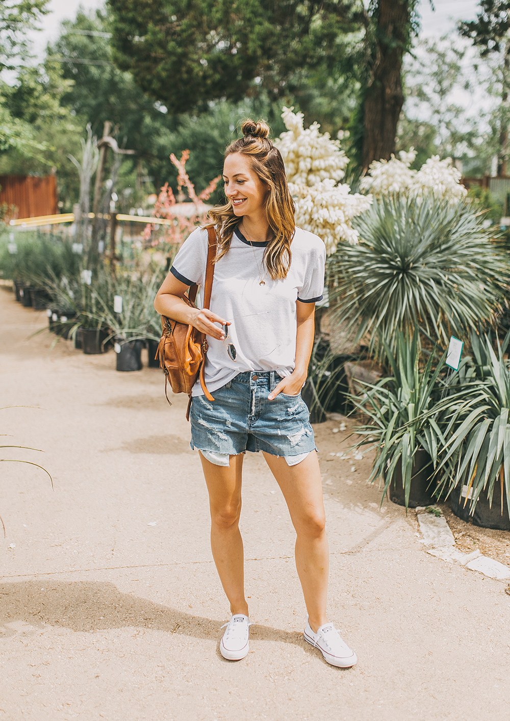 livvyland-blog-olivia-watson-austin-texas-fashion-blogger-natural-gardener-tee-boyfriend-shorts-denim-cutoffs-easy-summer-outfit-idea-treasure-bond-nordstrom-1