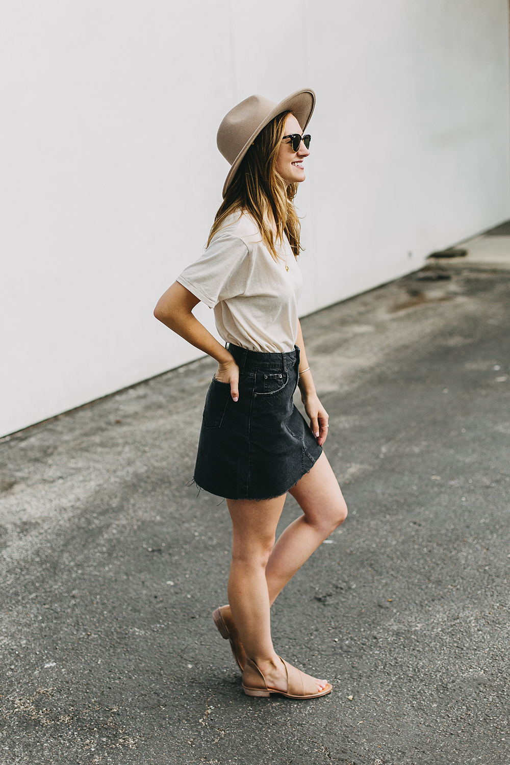 livvyland-blog-olivia-watson-austin-texas-fashion-lifestyle-blogger-black-denim-mini-skirt-urban-outfitters-boyfriend-tee-6