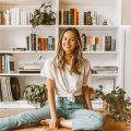 livvyland-blog-olivia-watson-boyfriend-tee-jeans-built-in-bookshelf-home