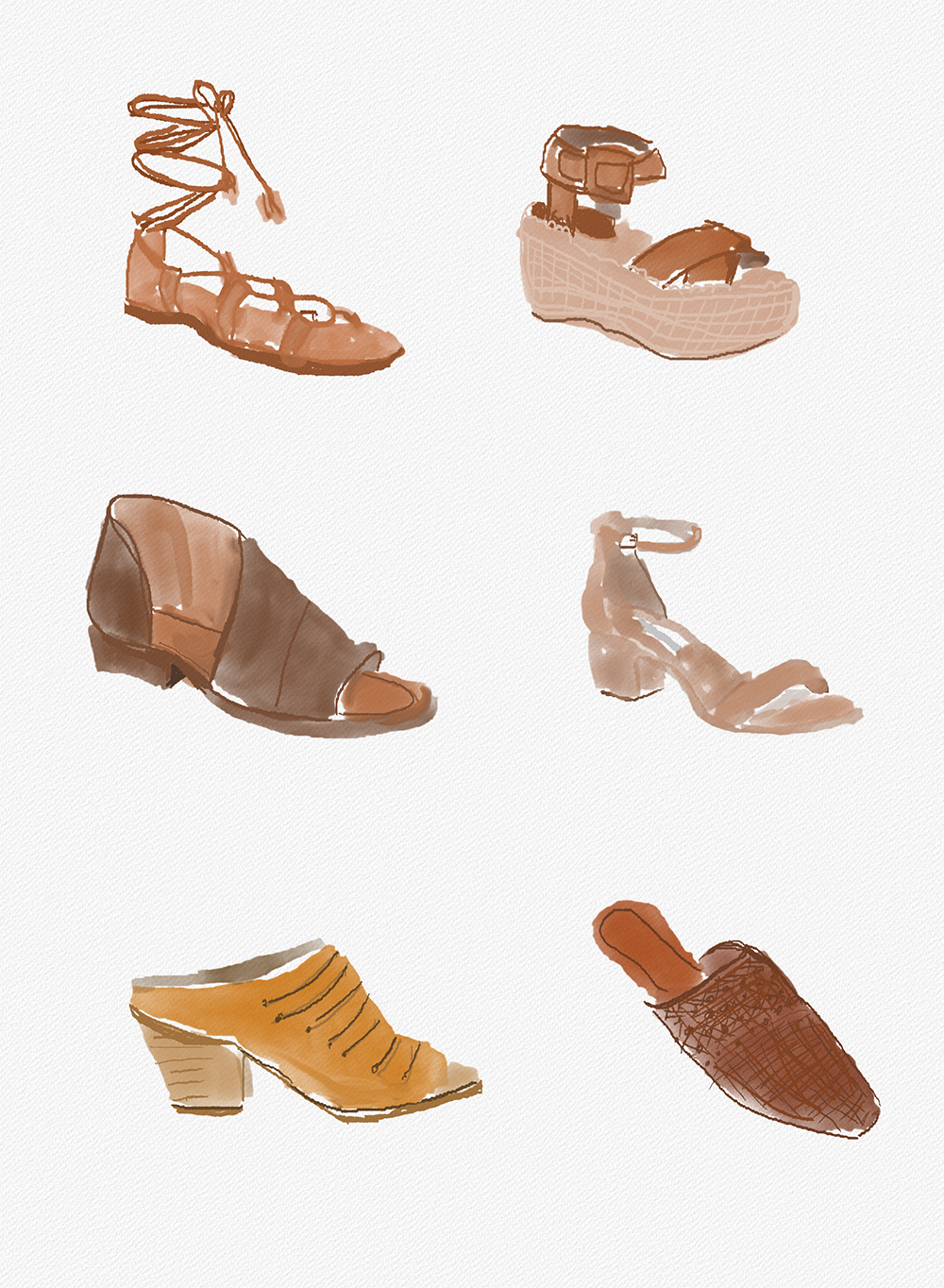 livvland-blog-olivia-watson-best-summer-sandals-any-occasion-fashion-illustration