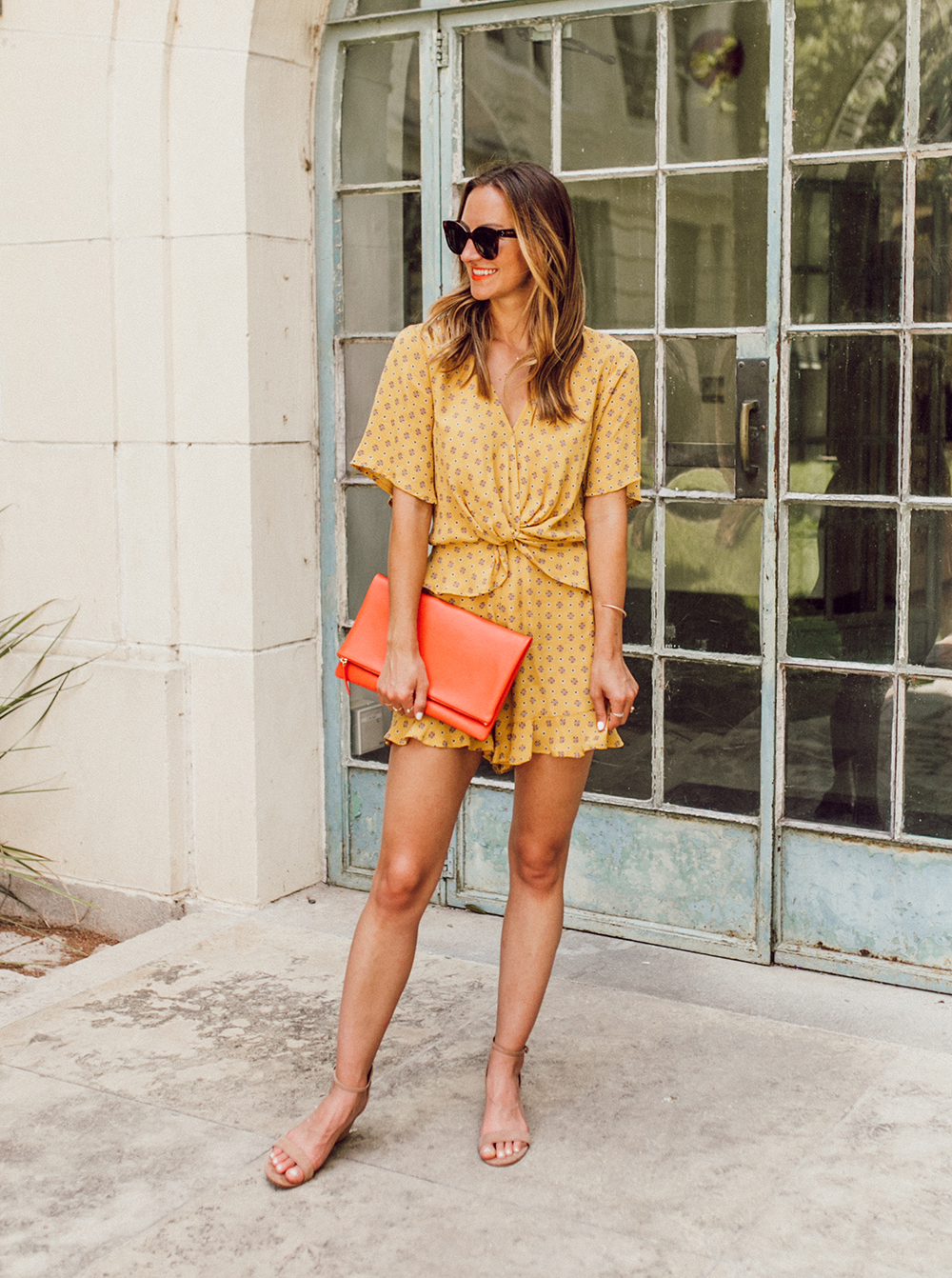 livvyland-blog-olivia-watson-austin-texas-fashion-lifestyle-blogger-river-island-floral-print-yellow-knot-front-romper-summer-occasion-outfit-idea-5