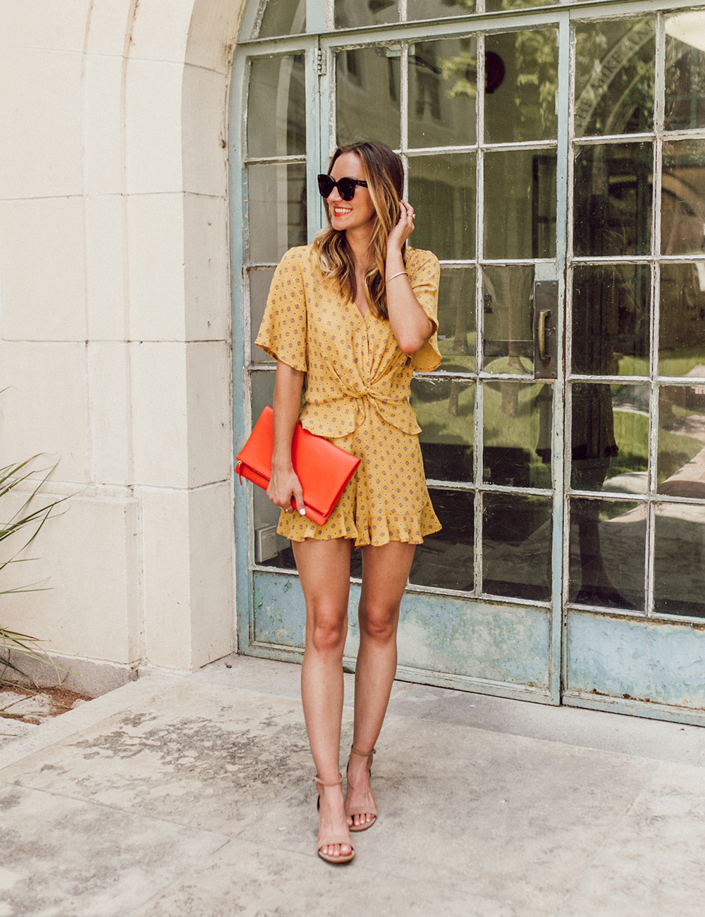 livvyland-blog-olivia-watson-austin-texas-fashion-lifestyle-blogger-river-island-floral-print-yellow-knot-front-romper-summer-occasion-outfit-idea-8
