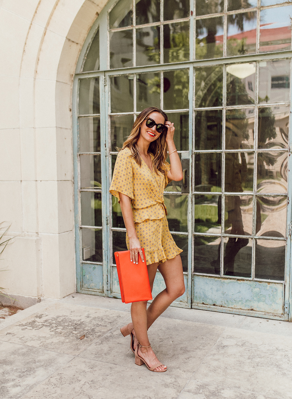 livvyland-blog-olivia-watson-austin-texas-fashion-lifestyle-blogger-river-island-floral-print-yellow-knot-front-romper-summer-occasion-outfit-idea-9