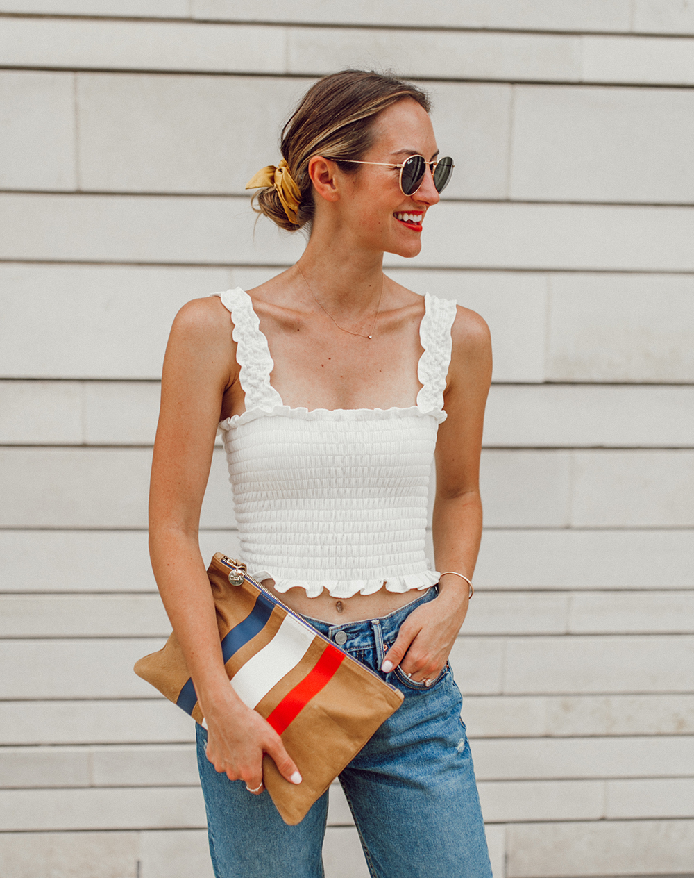 livvyland-blog-olivia-watson-austin-texas-fashion-style-blogger-reformation-tank-top-girlfriend-high-rise-jeans-hair-scarf-summer-outfit-1