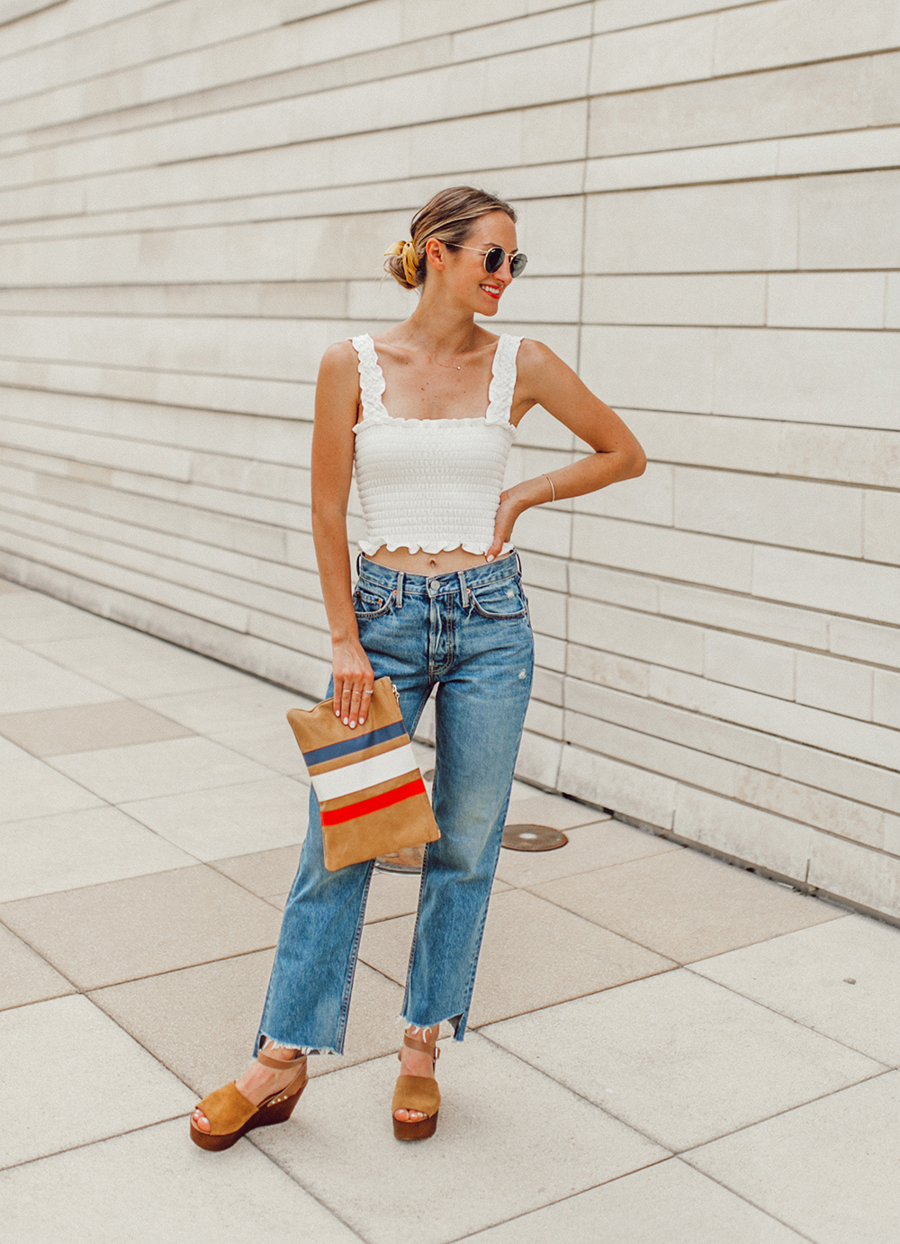 livvyland-blog-olivia-watson-austin-texas-fashion-style-blogger-reformation-tank-top-girlfriend-high-rise-jeans-hair-scarf-summer-outfit-5