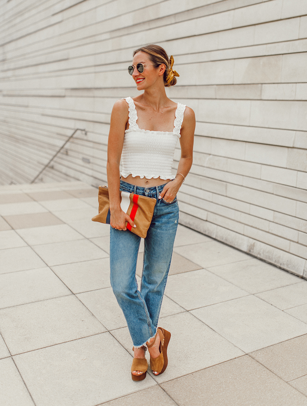 livvyland-blog-olivia-watson-austin-texas-fashion-style-blogger-reformation-tank-top-girlfriend-high-rise-jeans-hair-scarf-summer-outfit-6