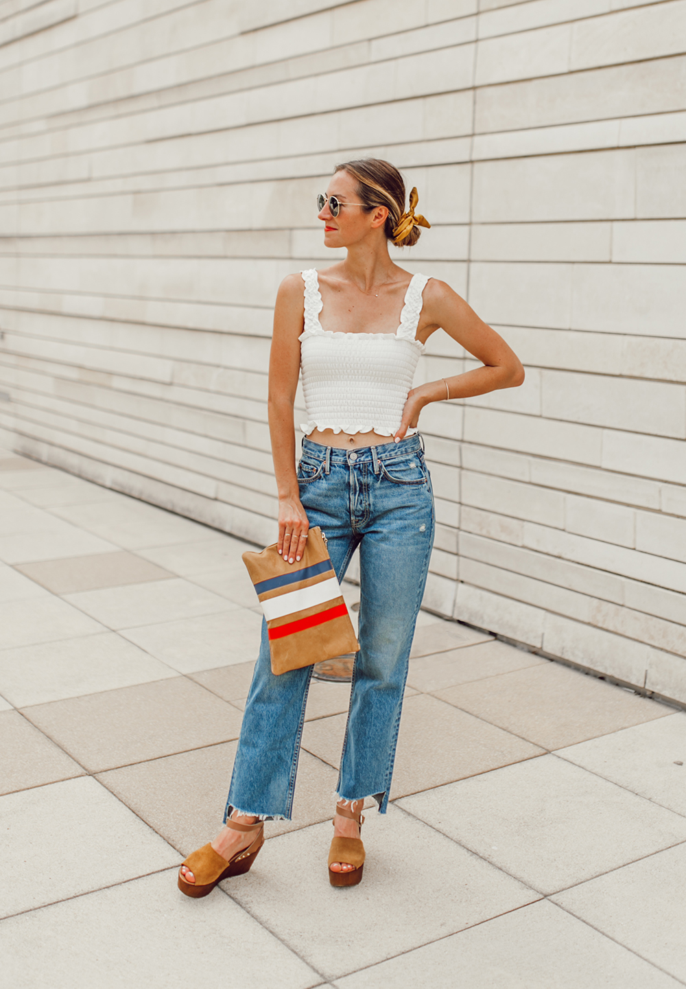 livvyland-blog-olivia-watson-austin-texas-fashion-style-blogger-reformation-tank-top-girlfriend-high-rise-jeans-hair-scarf-summer-outfit-7