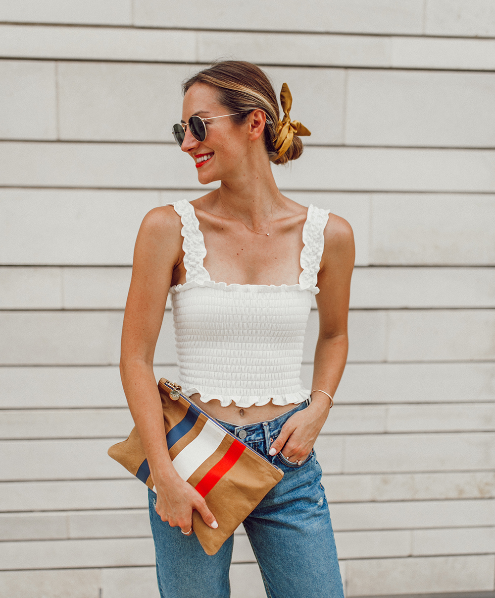 livvyland-blog-olivia-watson-austin-texas-fashion-style-blogger-reformation-tank-top-girlfriend-high-rise-jeans-hair-scarf-summer-outfit-9