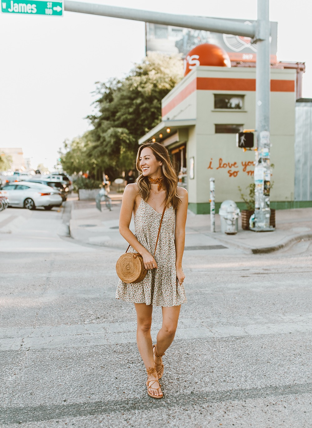 livvyland-blog-olivia-watson-south-congress-i-love-you-so-much-mural-urban-outfitters-harper-babydoll-floral-tie-back-dress-bandana-neck-6