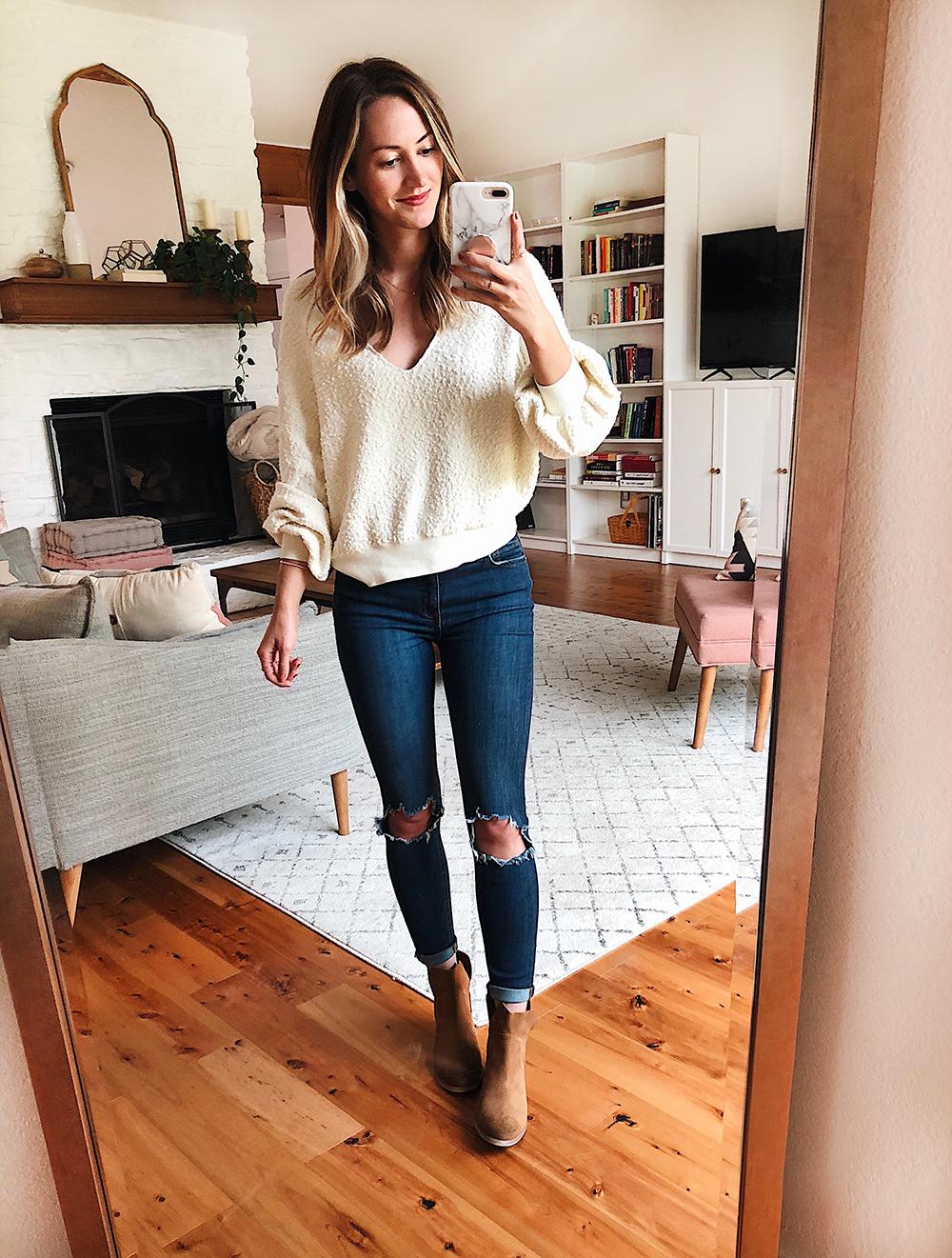 livvyland blog olivia watson austin texas fashion style blogger nordstrom anniversary sale outfit best of found my friend sweatshirt - Nsale Attempt On Haul