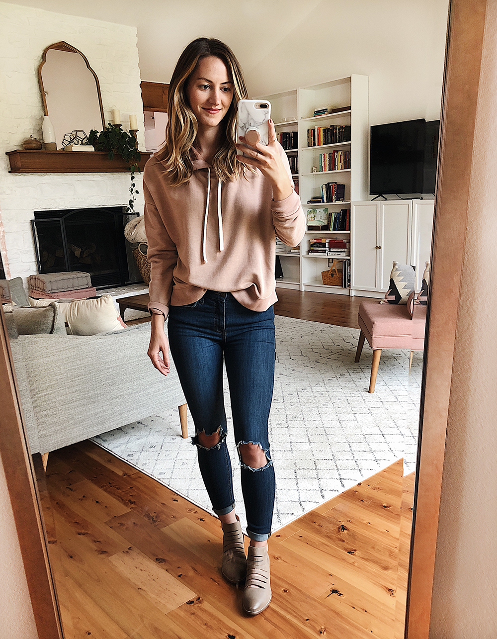 livvyland blog olivia watson austin texas fashion style blogger nordstrom anniversary sale outfit best of madewell blush hoodie - Nsale Attempt On Haul