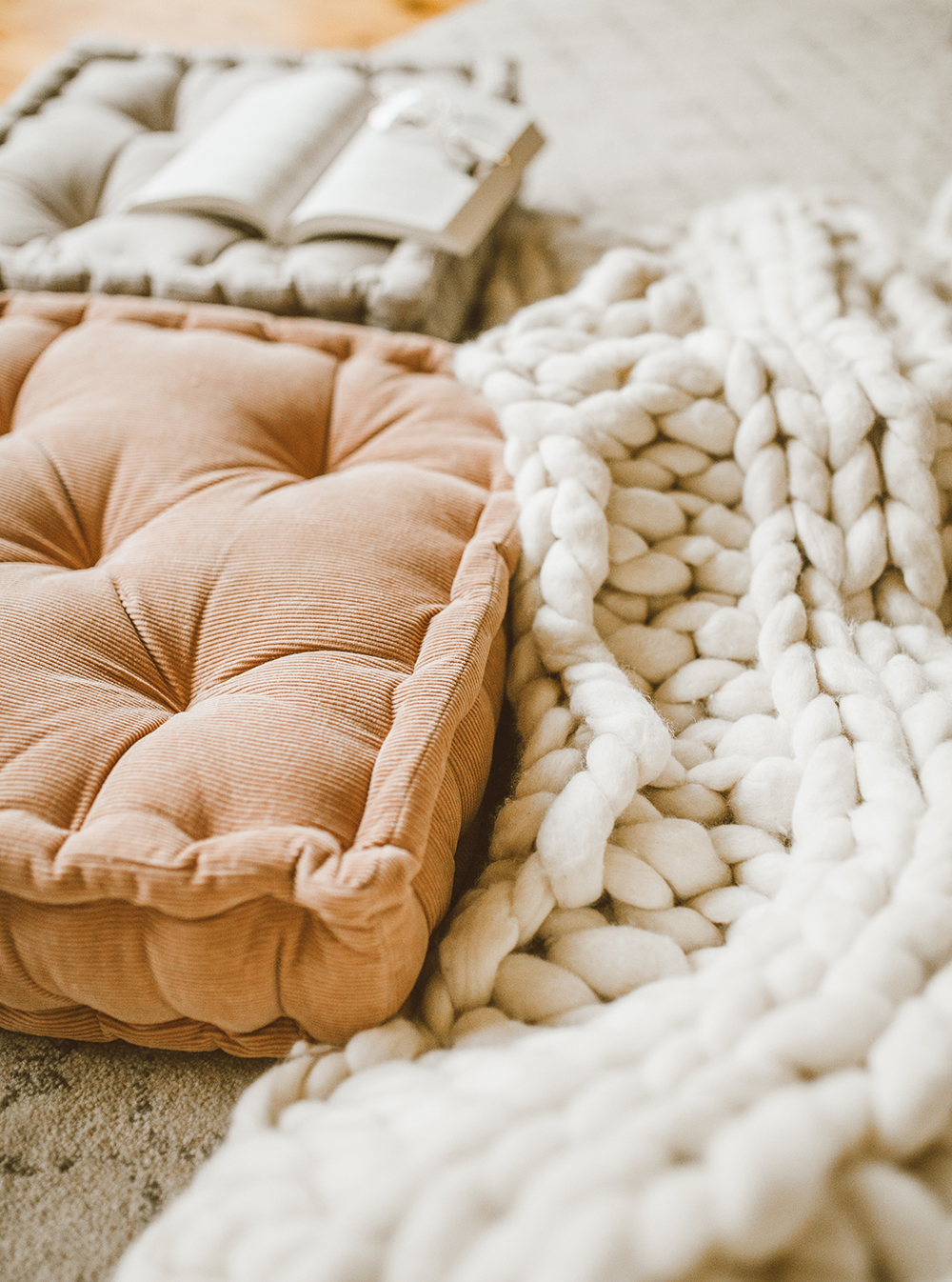 livvyland blog olivia watson austin texas lifestyle blog urban outfitters home decor bohemian cozy floor cushions blush rose 1 - A Few Cozy Decor Updates