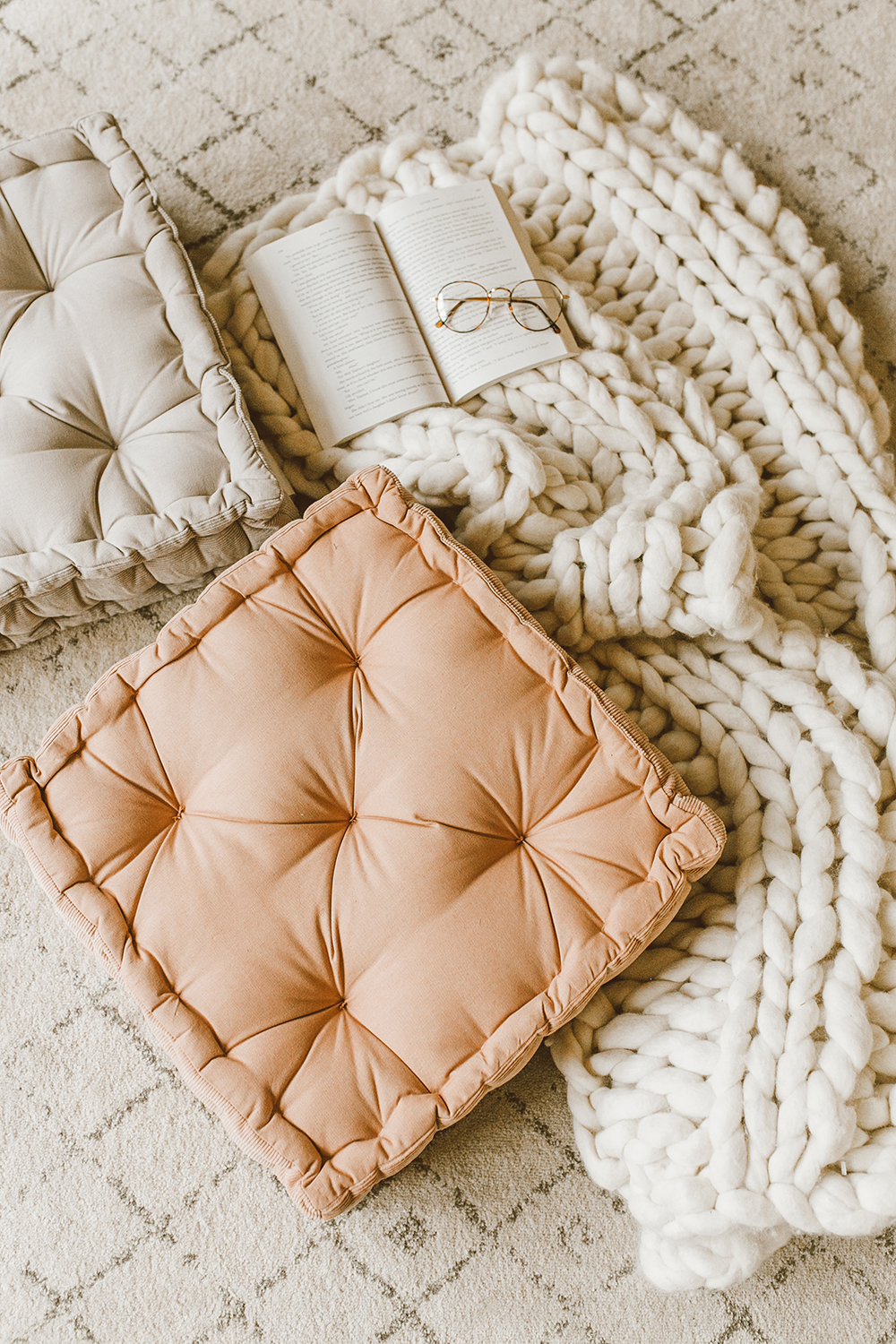 livvyland blog olivia watson austin texas lifestyle blog urban outfitters home decor bohemian cozy floor cushions rose blush 2 - A Few Cozy Decor Updates