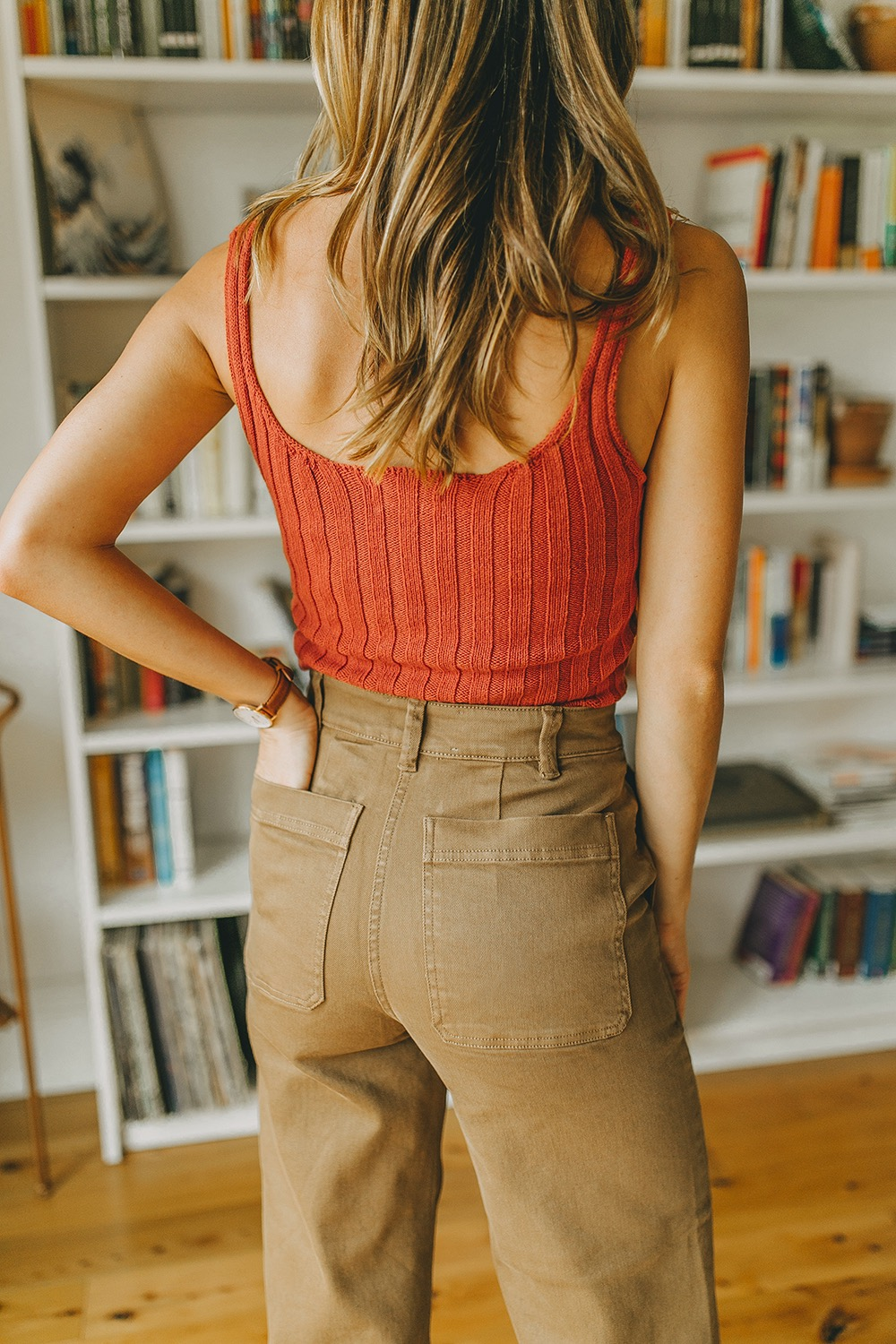 livvyland-blog-olivia-watson-everlane-wide-leg-crop-pant-ribbed-button-up-sweater-tank-austin-style-lifestyle-blogger-madewell-loafer-mule-7