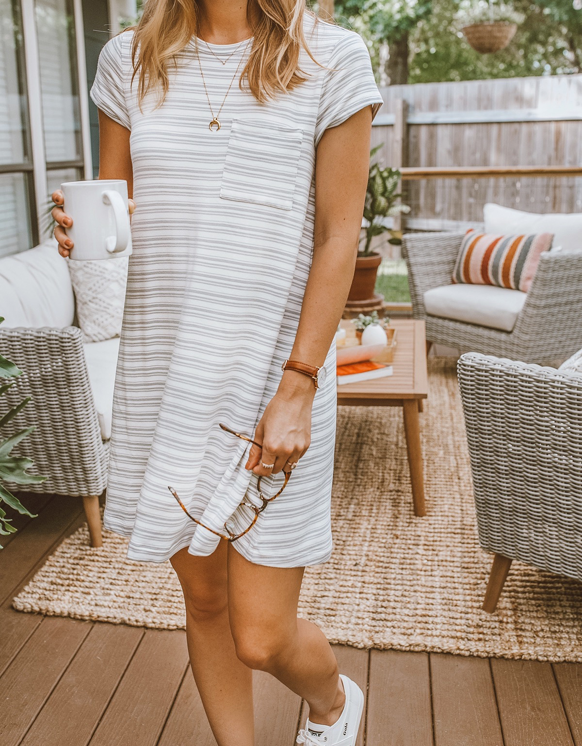 livvyland blog olivia watson lou and grey signaturesoft pocket tee striped dress cozy lounge wear 8 - My Completely satisfied Place