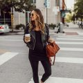 livvyland-blog-olivia-watson-austin-texas-fashion-style-blogger-all-black-athliesure-outfit-pregnant-maternity-sezane-ziggy-leather-jacket-1
