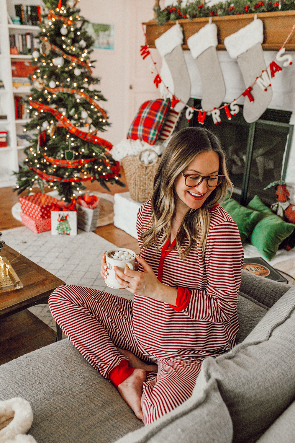 livvyland-blog-olivia-watson-austin-texas-fashion-lifestyle-blogger-maternity-christmas-holiday-striped-pajamas-jockey-5