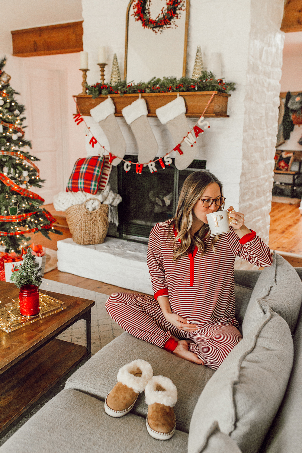 livvyland-blog-olivia-watson-austin-texas-fashion-lifestyle-blogger-maternity-christmas-holiday-striped-pajamas-jockey-8